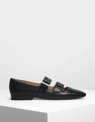 Charles & Keith Double Buckle Mary Jane Flats
