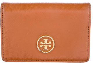 Tory Burch Tory Burch Leather Flap Card Holder
