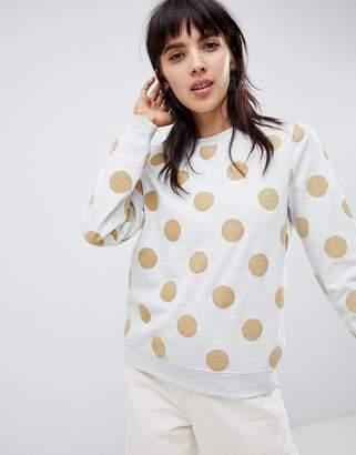 Ichi Polka Dot Sweatshirt