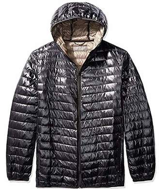 The Plus Project Men's Plus Size Lightweight Down Jacket with Hood 2X-Large Black