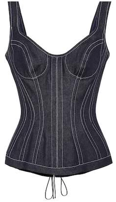 Thierry Mugler Denim bustier top