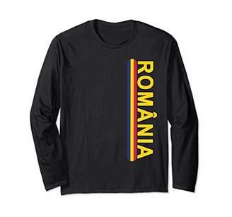 Romanian Language Left Side Yellow Text Long Sleeve Shirt