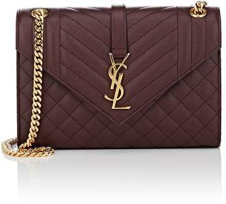 Saint Laurent Women's Monogram Medium Leather Chain Bag