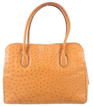 Lana Marks Ostrich Tote Bag