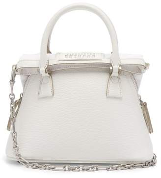 Maison Margiela 5ac Mini Leather Cross Body Bag - Womens - White