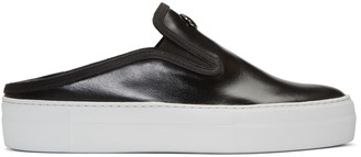 Moncler Black Tiphanie Slip-On Sneakers $455 thestylecure.com