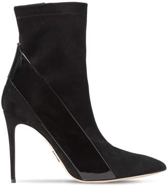 Paul Andrew 100mm Suede & Patent Leather Boots