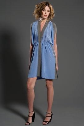 Derek Lam Scarf Dress with Trim