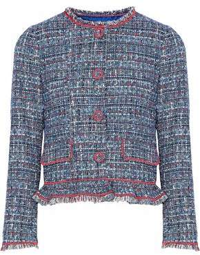 Moschino Embroidered Bouclé-Tweed Jacket