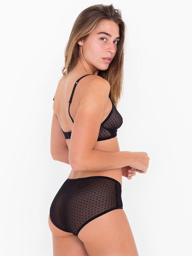 American Apparel Geo Lace Hipster Brief