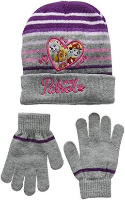 Nickelodeon Girl's Paw Patrol Heart Shape Scarf, Hat and Glove Set,2 (Manufacturer Size: 52)