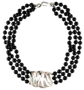 Patricia von Musulin Onyx Multistrand Necklace silver Onyx Multistrand Necklace