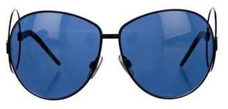 Dolce & Gabbana Jewel-Embellished Oversize Sunglasses