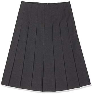 Trutex Girl's Stitch Down Pleat Skirt (Harrow Grey)