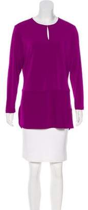 Lauren Ralph Lauren Crepe Long Sleeve Top