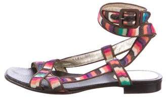 Missoni Knit Ankle Strap Sandals