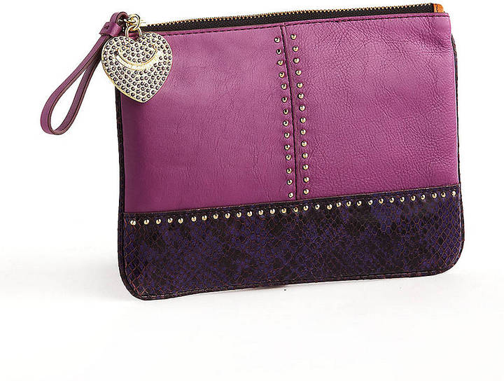 Juicy Couture Snake and Stud Medium Clutch