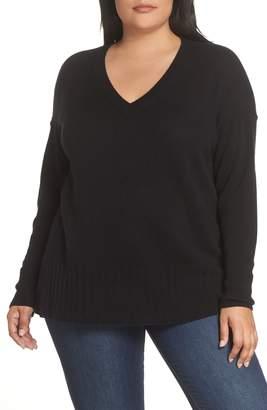 Sejour Wool & Cashmere Side Split Pullover