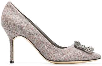Manolo Blahnik brooch embellished pumps