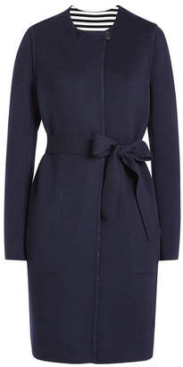 Max Mara Medusa Tie Belt Knit Cardigan in Virgin Wool