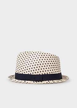 Paul Smith Men's Polka Dot Trilby Hat