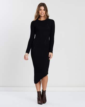 Atmos & Here Long Sleeve Maxi Knit Dress