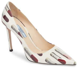 Prada Pointy Toe Lipstick Pump