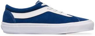 Vans blue and white Bold leather and suede sneakers
