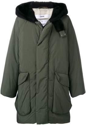 Oamc hooded mid-length coat