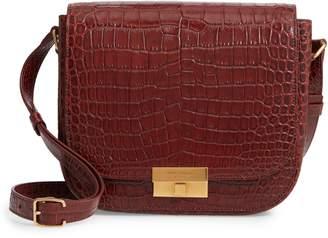 Saint Laurent Betty Croc Embossed Leather Shoulder Bag