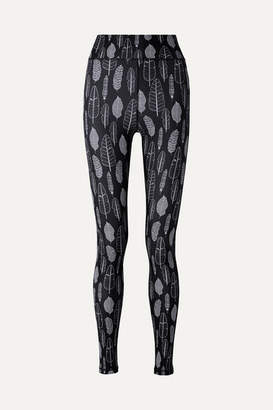 The Upside Dance Printed Stretch Leggings - Midnight blue