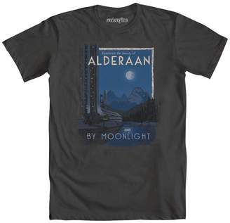 Mighty Fine Star Wars Alderaan By Moonlight Mens Charcoal Grey T-Shirt | M