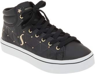 Skechers Lace-Up Embossed High Top Sneakers - Hi-Lites