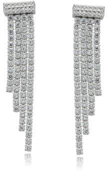 Lord & Taylor Sterling Silver and Cubic Zirconia Waterfall Earrings