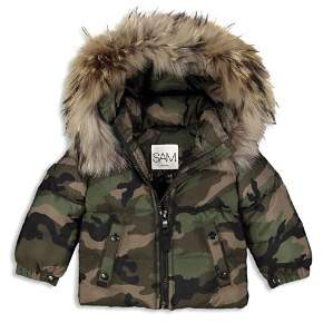 SAM. Boys' Camo-Print Fur-Trimmed Mountain Down Jacket - Little Kid