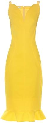 OSCAR DE LA RENTA Ruffle-trimmed sleeveless dress $1,490 thestylecure.com