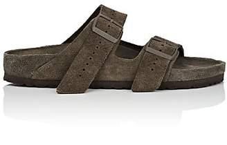 Rick Owens Men's Arizona Exquisite Suede Double-Buckle Sandals - Gray