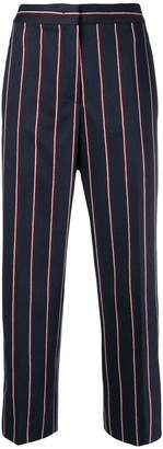 Sportmax striped cropped trousers