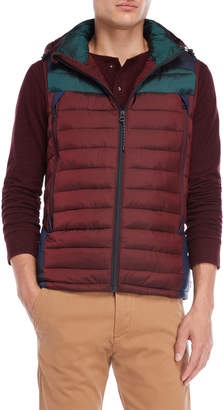 Scotch & Soda Color Block Quilted Hooded Vest