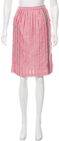 Bottega VenetaBottega Veneta Striped Knee-Length Skirt