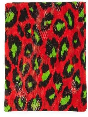 Gucci Neon Leopard Print Tights - Womens - Green