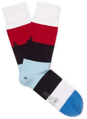 67141e3e290e Corgi Striped Cotton-Blend Socks