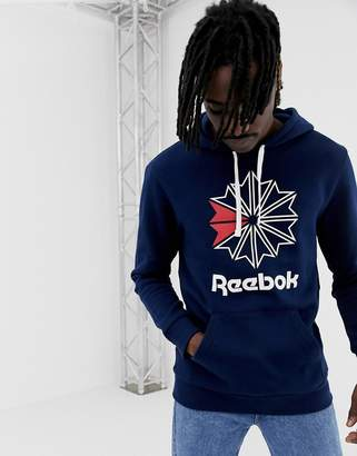 Reebok Classics Starcrest Pullover Hoodie In Navy DH2107