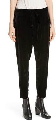 Eileen Fisher Crop Velvet Jogger Pants