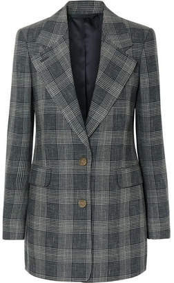 Acne Studios Checked Wool-blend Blazer - Blue