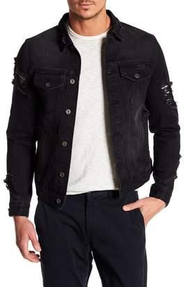 Request Distressed Denim Jacket