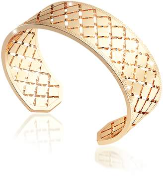 Rebecca Melrose Yellow Gold Over Bronze Bangle Bracelet
