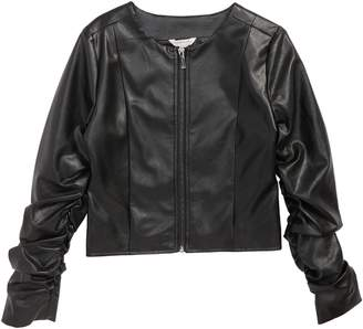 Habitual Emma Faux Leather Jacket