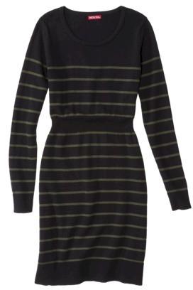 Merona Women's Long Sleeve Scoop Neck Sweater Dress - Assorted Colors