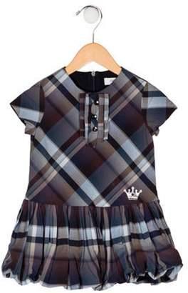 Carrera Pili Girls' Plaid Dress navy Pili Girls' Plaid Dress